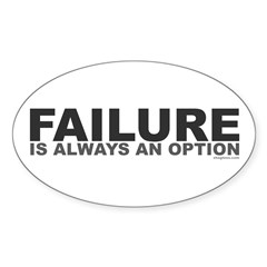 Failure Option Oval Decal