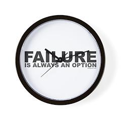 Failure Option Wall Clock