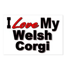 I Love My Welsh Corgi Postcards (Package of 8)