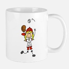 Girl Baseball Player Mug