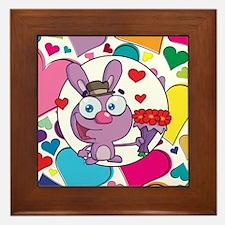 BUNNY LOVE Framed Tile