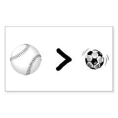 Baseball > Soccer Rectangle Sticker 10 pk)