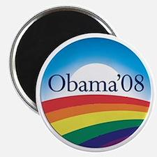 """Barack Obama Rainbow Logo 2.25"""" Magnet (100 p"""