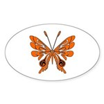 'Butterfly Tattoos Sticker (Oval 50 pk)