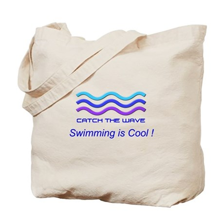 SWIMMING IS COOL Tote Bag