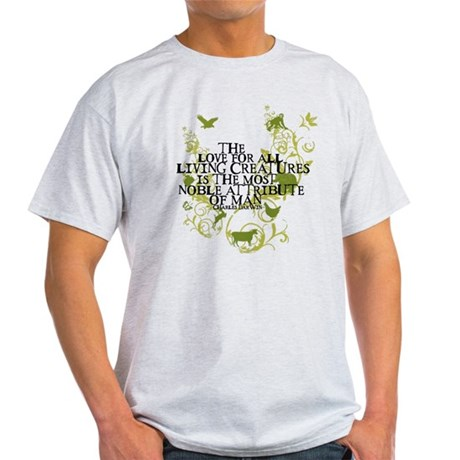 Darwin Noble - Animals and Floral Light T-Shirt