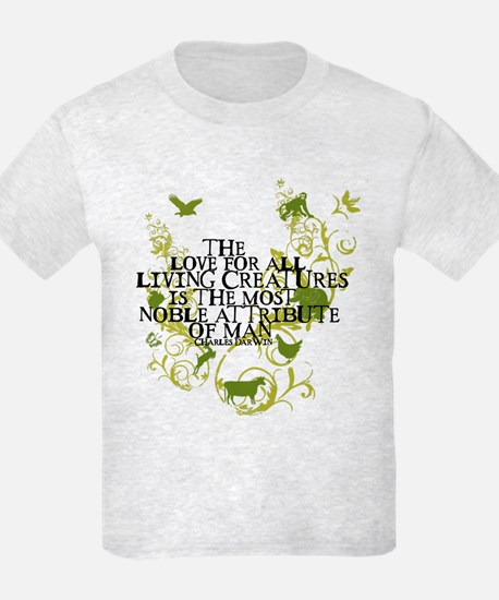 Darwin Noble - Animals and Floral T-Shirt