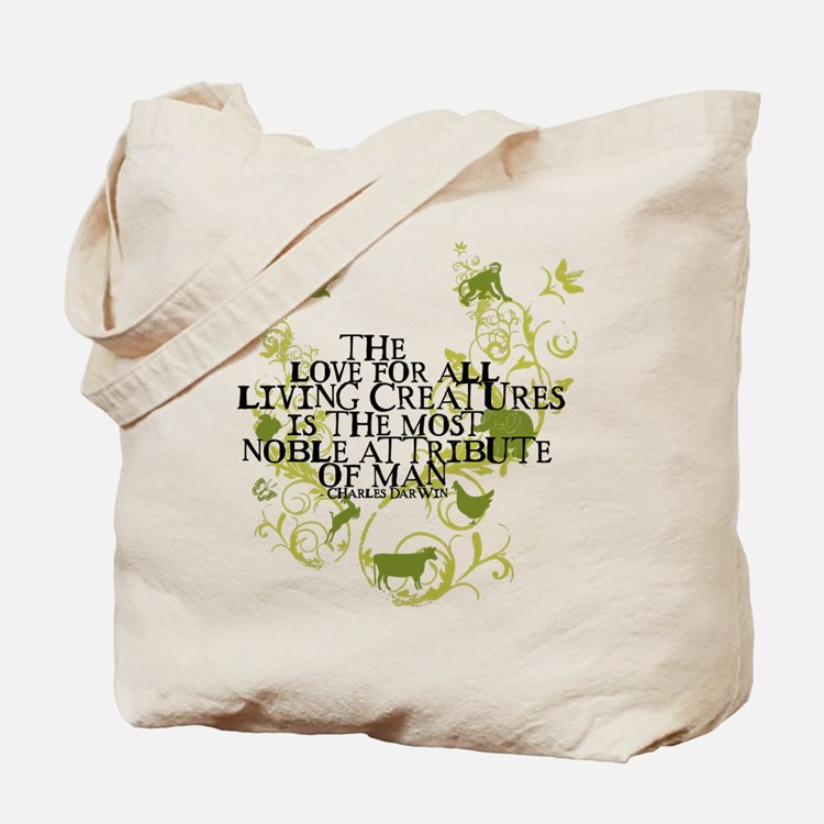 Darwin Noble - Animals and Floral Tote Bag