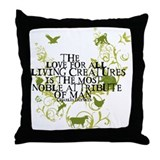 Charles darwin Throw Pillows