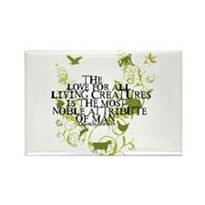 Darwin Noble - Animals and Floral Rectangle Magnet