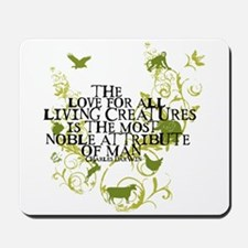 Darwin Noble - Animals and Floral Mousepad