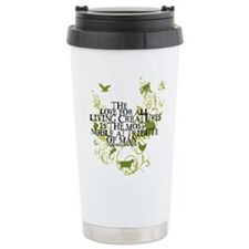 Darwin Noble - Animals and Floral Thermos Mug
