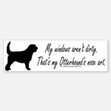 Otterhound Art Bumper Bumper Bumper Sticker