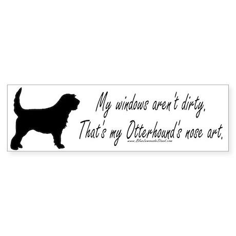 Otterhound Art Bumper Sticker