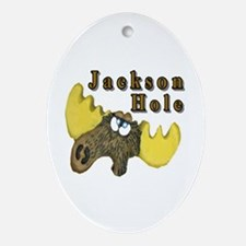 Jackson Hole moose Oval Ornament