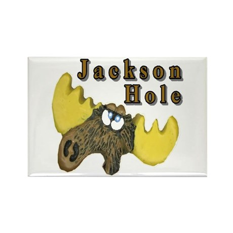 Jackson Hole moose Rectangle Magnet
