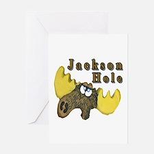 Jackson Hole Moose Card Greeting Cards