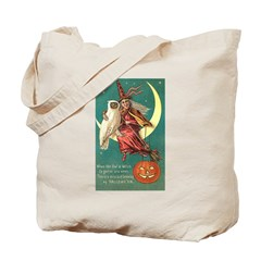 Witch and Owl Tote Bag