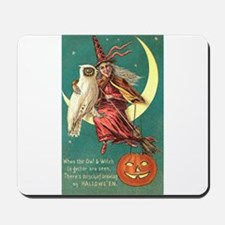 Witch and Owl Mousepad