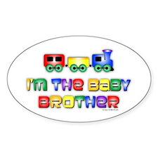Baby Bro Choo Choo Train Oval Decal