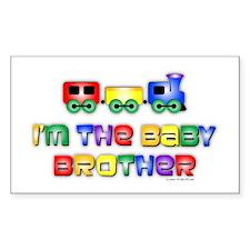 Baby Bro Choo Choo Train Rectangle Sticker 10 pk)