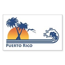Puerto Rico Rectangle Decal