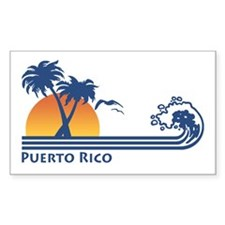 Puerto Rico Rectangle Decal