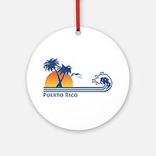 Puerto Rico Ornament (Round)