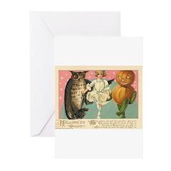 Girl Owl & Pumpkin Greeting Cards (Pk of 20)