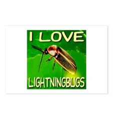 I Love Lightningbugs Postcards (Package of 8)