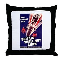 Beat Firebomb Fritz Throw Pillow