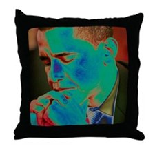 Obama Praying Throw Pillow