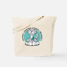 Cervical Cancer Cat Tote Bag