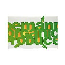 Demand Organic Produce Rectangle Magnet