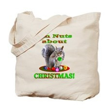 Squirrel Christmas Tote Bag
