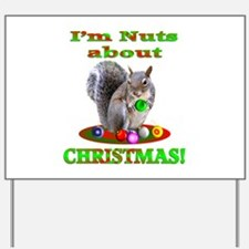 Squirrel Christmas Yard Sign