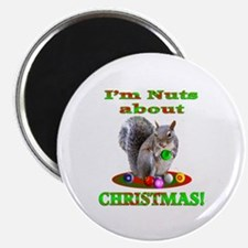 """Squirrel Christmas 2.25"""" Magnet (10 pack)"""
