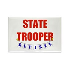 Retired State Trooper Rectangle Magnet