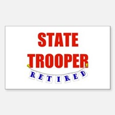 Retired State Trooper Rectangle Decal