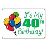 40th birthday Banners
