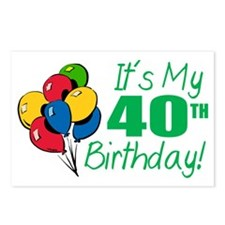 It's My 40th Birthday (Balloons) Postcards (Packag