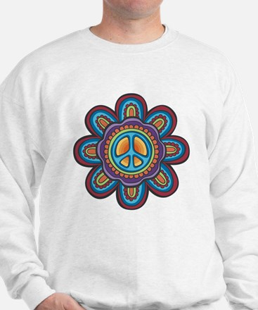 Hippie Peace Flower Sweatshirt