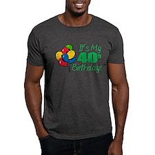It's My 40th Birthday (Balloons) T-Shirt