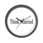 Think Married Wall Clock