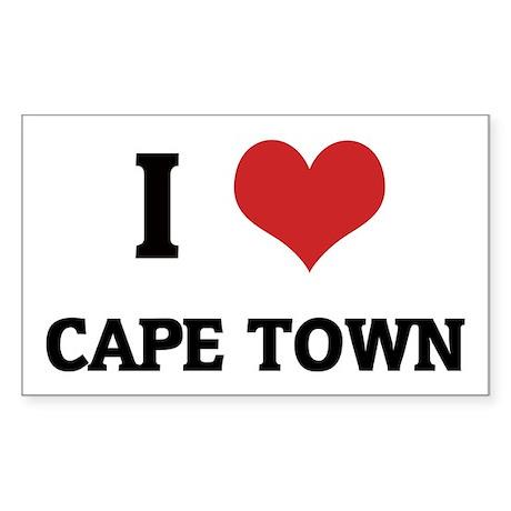 I Love Cape Town Rectangle Sticker