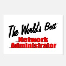 """""""The World's Best Network Administrator"""" Postcards"""