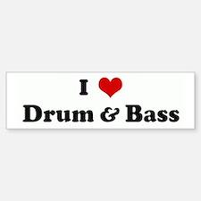 I Love Drum & Bass Bumper Car Car Sticker