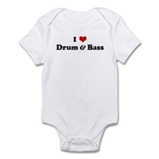 I Love Drum & Bass Infant Bodysuit