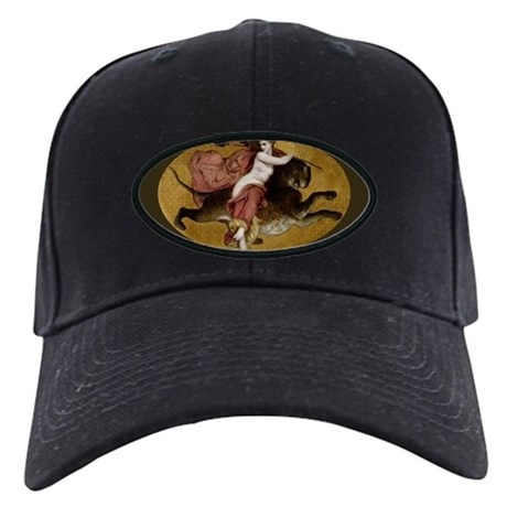 Bacchante on a Panther Greek Mythology Black Cap