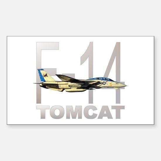 F-14 TOMCAT Rectangle Sticker 10 pk)